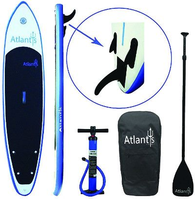 "Atlantis 10'6"" inflatable stand up paddle board review"