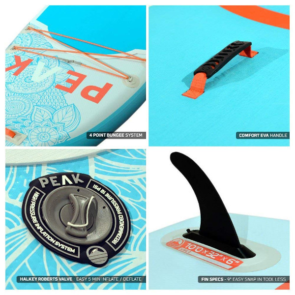 PEAK 10' Yoga Fitness Inflatable paddle board review