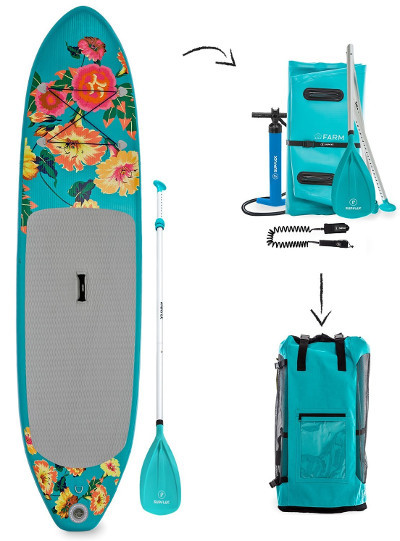 Supflex 10' fun flowery inflatable paddle board review