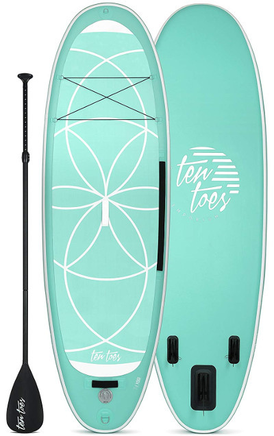 Ten Toes Yogi inflatable stand up paddle board Review