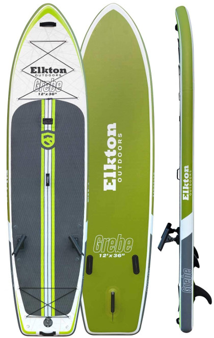 Elkton Outdoors Grebe 12' Inflatable Fishing Paddle Board Review