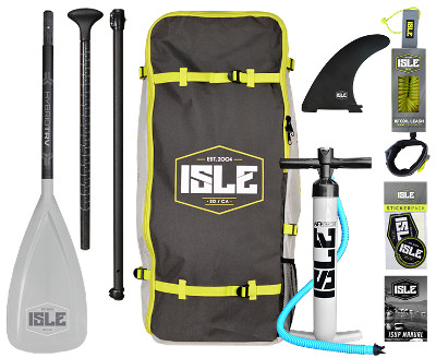 ISLE Sportsman inflatable SUP - Package