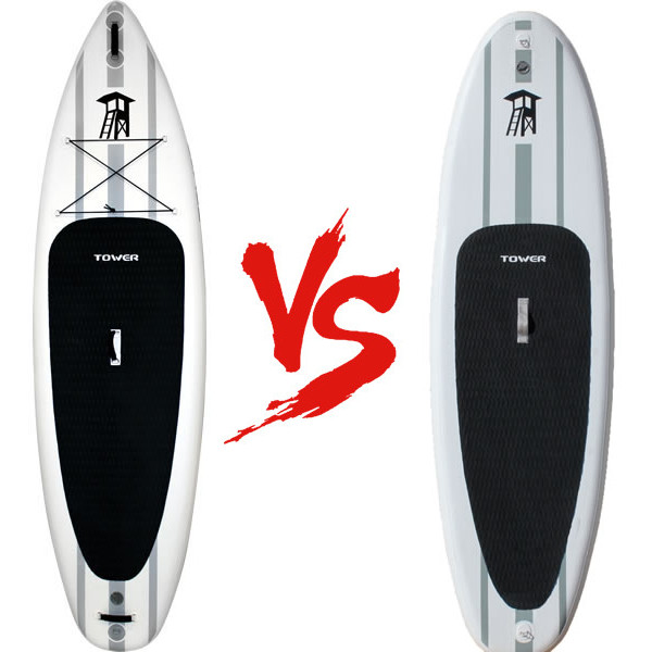 Tower Adventurer vs Adventurer 2 inflatable paddle board