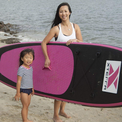 XTERRA board pink Inflatable Stand Up Paddle Board review