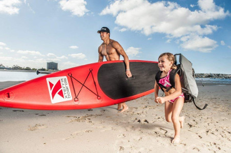 """XTERRA 12'6"""" touring inflatable stand up paddle board review"""