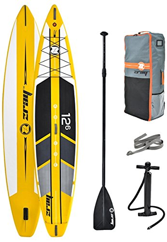 """Z-Ray 12'6"""" R1 Racing SUP Stand Up Paddle Board Review"""