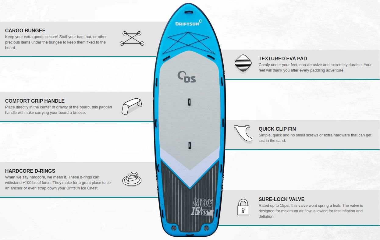 Driftsun Barge inflatable SUP Review