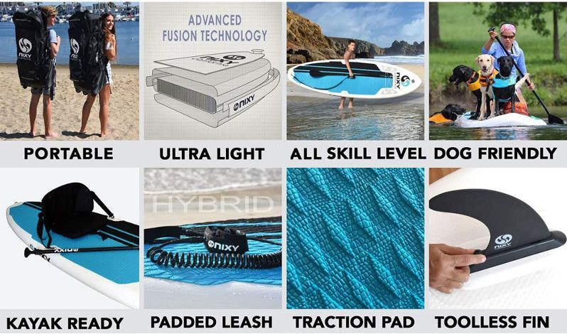 NIXY venice Yoga and beginner inflatable SUP - Features