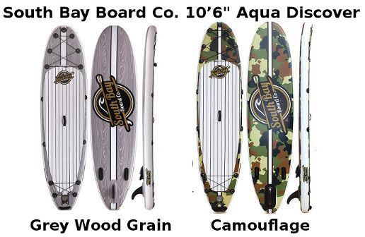 South Bay Board Aqua Discover Inflatable SUP - Colors