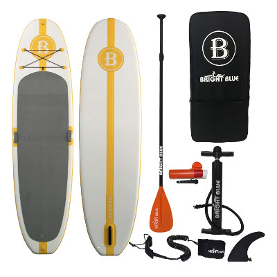 """Bright Blue 10'8"""" Yoga inflatable paddle board Review"""