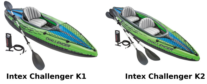 Intex Challenger k1 K2 Kayak Review